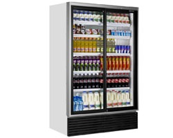 Caravell - Double Glass Door Upright Bottle Cooler